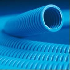 Гофротруба ППЛ гибкая д 25мм легкая с протяжкой синяя 50м DKC