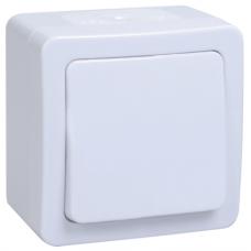 Выключатель Гермес 1ОП б/п 10А IP54 в сборе ВС20-1-0-ГПБ белый  EVMP10-K01-10-54-EC