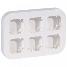 Блок установочный Quteo 6П для накладного монтажа белый