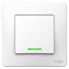 Выключатель Бланка 1СП с/п 10А IP20 в сборе белый  BLNVS010111