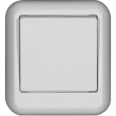Выключатель Прима 1ОП б/п 6А IP20 в сборе с монт пласт белый