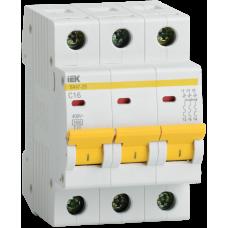 Автомат 3П 2А хар-ка C 4,5кА ВА47-29 IEK  MVA20-3-002-C