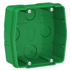 Коробка монтажная Бланка 1СП для силовых розеток зеленый  BLNMK000001