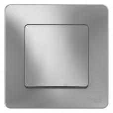 Выключатель Бланка 1СП б/п 10А IP20 в сборе алюминий