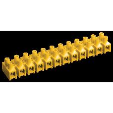 Колодка клеммная 6-16мм2 30А 12 пар полистирол IEK ЗВИ-30 желтые  UZV7-030-10