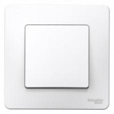 Выключатель Бланка 1СП б/п 10А IP20 в сборе белый