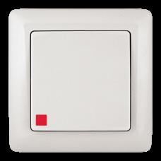 Выключатель Хит 1СП с/п 6А IP20 в сборе белый  VS16-135-B