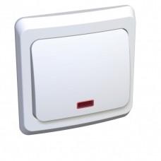 Выключатель Этюд 1СП с/п 10А IP20 в сборе белый  BC10-005B