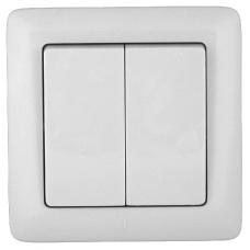 Выключатель Прима 2СП б/п 6А IP20 в сборе белый  S56-043-B