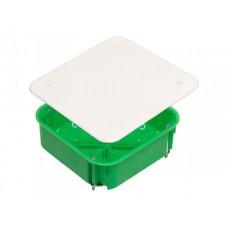 Коробка разветвительная 106х106х45 IP30 16 вводов, квадратная с крышкой, металл. лапки (100шт/кор)