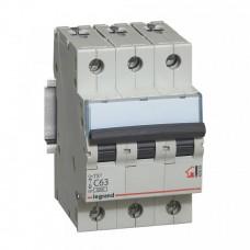 Автомат 3П 50А хар-ка C 6кА TX3 Legrand  404061