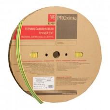 Трубка термоусадочная ТУТ 20/10 желто-зеленая 100м ЭКФ