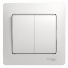 Выключатель Глосса 2СП б/п 10А IP20 в сборе белый  GSL000152