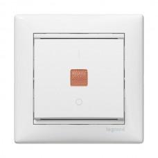 Выключатель Валена 1СП с/п 10А IP31 механизм зеленый индикатор белый  774410