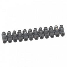 Колодка клеммная 2,5мм2 24А 12 пар полипропилен Legrand Nylbloc черная  34211