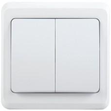 Выключатель Вега 2СП б/п 10А IP20 в сборе ВС10-2-0-ВБ белый  EVV20-K01-10-DM