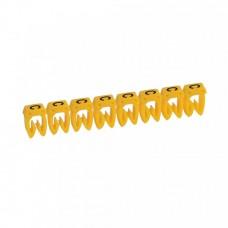 """Маркер кабельный 0,5-1,5мм символ """"C"""" CAB 3 (300шт/упак) Legrand"""
