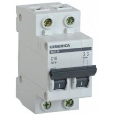 Автомат 2П 20А хар-ка C 4,5кА ВА47-29 Generica IEK  MVA25-2-020-C