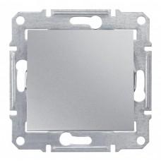 Выключатель Седна 1СП б/п 10А IP20 механизм алюминий  SDN0100160