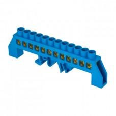 Шина 0 N 8х12мм 12 отверстий латунь синий нейлоновый корпус комбинированный PROxima EKF