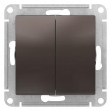 Выключатель АтласДизайн 2СП б/п 10А IP20 механизм мокко