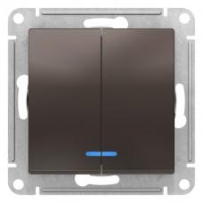 Выключатель АтласДизайн 2СП с/п 10А IP20 механизм мокко