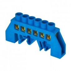 Шина 0 N 6х9мм 6 отверстий латунь синий нейлоновый корпус комбинированный PROxima EKF