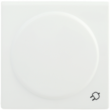 Накладка Болеро 1СП на розетку с/з с крышкой НР-3-1-ББ белый