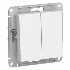 Выключатель АтласДизайн 2СП б/п 10А IP20 механизм белый  ATN000151