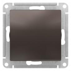 Выключатель АтласДизайн 1СП б/п 10А IP20 механизм мокко