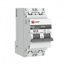 Выключатель нагрузки ВН-63 2П 63А PROxima EKF  SL63-2-63-pro