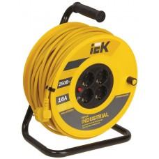 Удлинитель на катушке ПВС 3х1,5 4гн с/з б/шт термовыкл 30м УК30 Industrial IEK