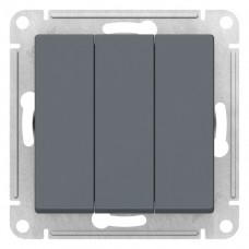 Выключатель АтласДизайн 3СП б/п 10А IP20 механизм грифель