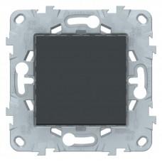 Выключатель Уника NEW 1СП б/п 10А IP20 механизм антрацит  NU520154