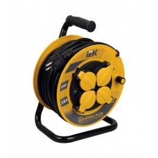 Удлинитель на катушке ПВС 3х1,5 4гн с/з б/шт термовыкл с крышкой IP44 50м УК50 Industrial plus IEK