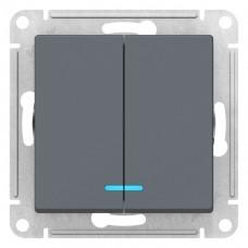 Выключатель АтласДизайн 2СП с/п 10А IP20 механизм грифель  ATN000753