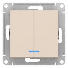 Выключатель АтласДизайн 2СП с/п 10А IP20 механизм бежевый