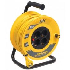 Удлинитель на катушке ПВС 3х1 4гн с/з б/шт термовыкл 30м УК30 Industrial IEK