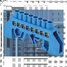Шина 0 N 8х12мм 8 отверстий латунь синий нейлоновый корпус комбинированный PROxima EKF