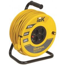 Удлинитель на катушке ПВС 3х1,5 4гн с/з б/шт термовыкл 50м УК50 Industrial IEK