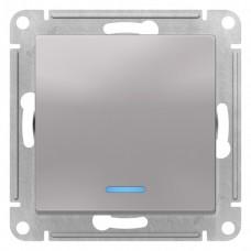 Выключатель АтласДизайн 1СП с/п 10А IP20 механизм алюминий