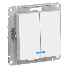 Выключатель АтласДизайн 2СП с/п 10А IP20 механизм белый  ATN000153