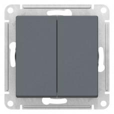 Выключатель АтласДизайн 2СП б/п 10А IP20 механизм грифель