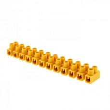 Колодка клеммная 12мм 16А полистирол желтая (10шт/упак) EKF  plc-KK-12-16-ps-y