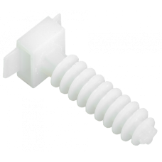 База дюбельная БД 35х10мм под хомут белая (100шт/упак) IEK IEK UHP32-35-10-100-K01