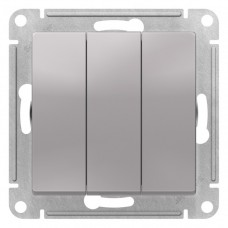 Выключатель АтласДизайн 3СП б/п 10А IP20 механизм алюминий