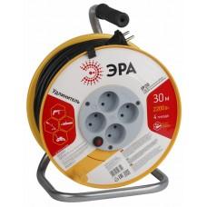 Удлинитель на катушке ПВС 2х1 4гн б/з б/шт термовыкл 30м RP-4-2x1.0-30m ЭРА