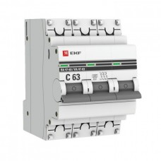 Автомат 3П 32А хар-ка D 6кА ВА47-63 PROxima EKF  mcb4763-6-3-32D-pro