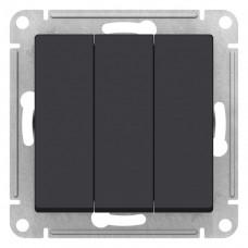 Выключатель АтласДизайн 3СП б/п 10А IP20 механизм карбон