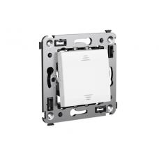 Выключатель одноклавишный в стену Белое облако Avanti DKC  4400103